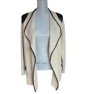 Soft Surroundings Open Front Knit Cardigan